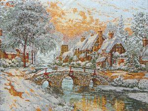 Набор для вышивания крестом ANCHOR MAIA «Каменный мост в Рождество»