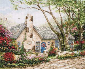 Набор для вышивания крестом ANCHOR MAIA «Коттедж в утреннем сиянии»