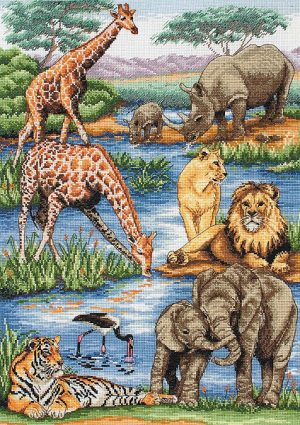 Набор для вышивания крестом ANCHOR MAIA «Животные Африки»