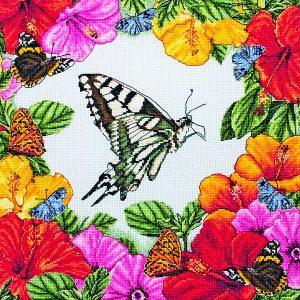 Набор для вышивания крестом ANCHOR MAIA «Весенние бабочки»