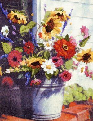 Набор для вышивания гладью DIMENSIONS «Корзина цветов»