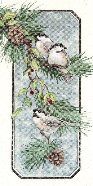 Набор для вышивания DIMENSIONS «Пташки на ветке»