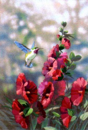 Набор для вышивания гладью DIMENSIONS «Колибри в цветах»