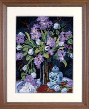 Набор для вышивания DIMENSIONS «Тюльпаны и сирень»