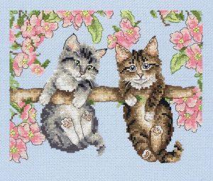 Набор для вышивания крестом ANCHOR «Котята на ветке»