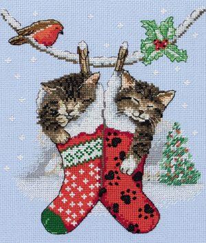 Набор для вышивания крестом ANCHOR «Рождественские котята»
