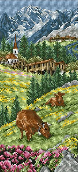 Набор для вышивания крестом ANCHOR «Швейцарские Альпы»