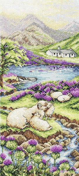Набор для вышивания крестом ANCHOR «Высокогорный пейзаж»