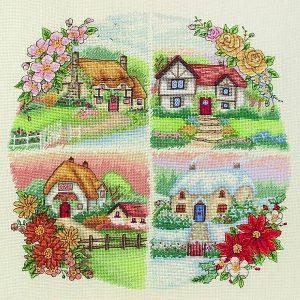 Набор для вышивания крестом ANCHOR «Сезонные коттеджи»