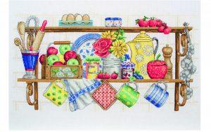 Набор для вышивания крестом ANCHOR «Кухонная полка»