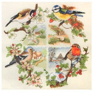 Набор для вышивания крестом ANCHOR «Птицы и сезоны»