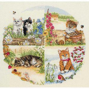 Набор для вышивания крестом ANCHOR «Коты и сезоны»