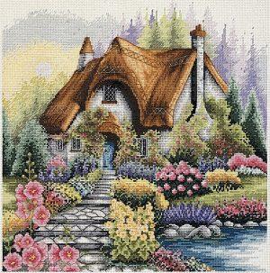 Набор для вышивания крестом ANCHOR «Коттедж на озере»