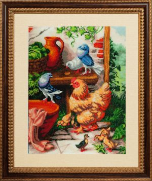 Набор для вышивания бисером Золотые ручки «Птичий дворик»