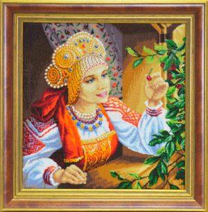 Набор для вышивания бисером Золотые ручки «Вишенка»