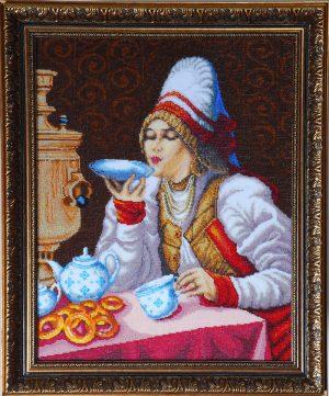 Набор для вышивания бисером Золотые ручки «За чаем»