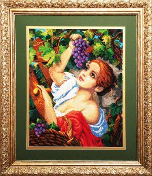 Набор для вышивания бисером Золотые ручки «Виноградница»