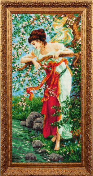Набор для вышивания бисером Золотые ручки «Очарование весны»