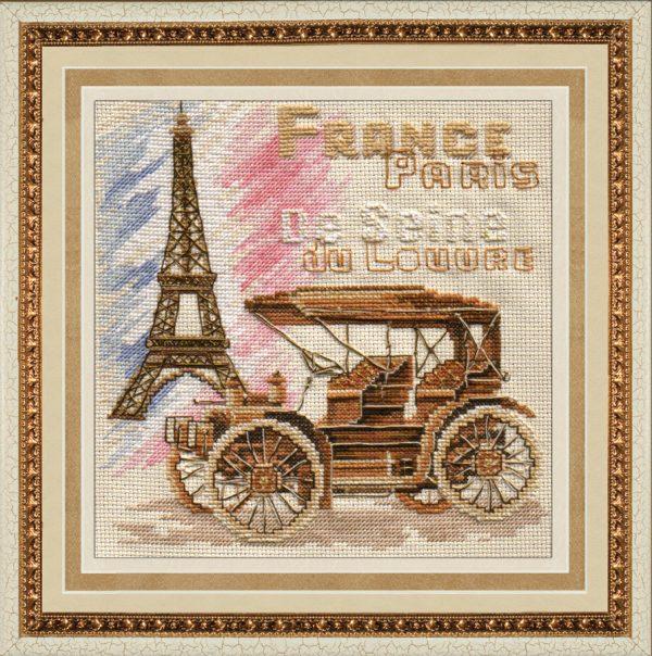 Набор для вышивания крестом Золотые ручки «Париж»