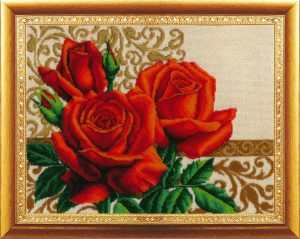 Набор для вышивания бисером Золотые ручки «Цветы любви»