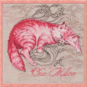 Набор для вышивания NIMUE «Chat-Mallow» Гламурная кошечка