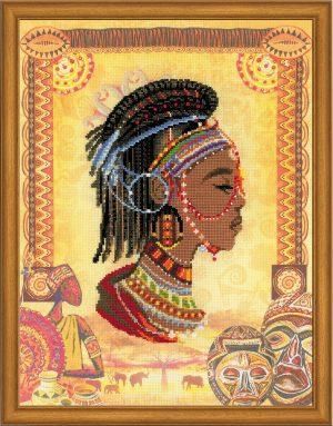 Набор для вышивания крестом Риолис «Африканская принцесса»