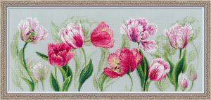 Набор для вышивания RIOLIS PREMIUM «Весенние тюльпаны»
