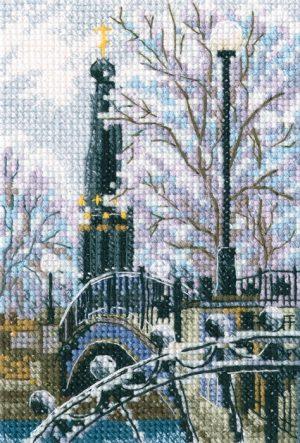 Набор для вышивания РТО «Мостик вздохов в Лопатинском саду»