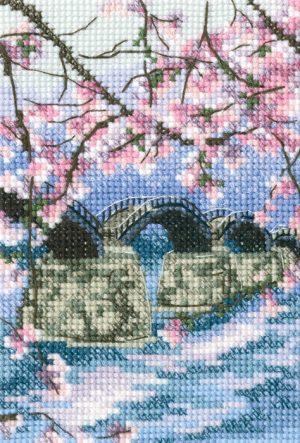 Набор для вышивания РТО «Мост Кинтай через реку Нишики»