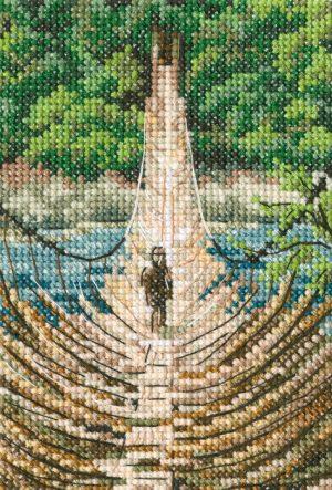 Набор для вышивания РТО «Подвесной бамбуковый мост на реке Сианг»