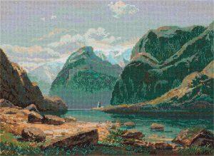Набор для вышивания PANNA «Озеро в горах Швейцарии»