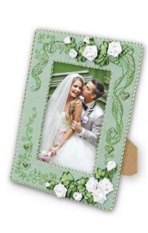 Набор для вышивания крестом Риолис «Рамка для фотографии С любовью»