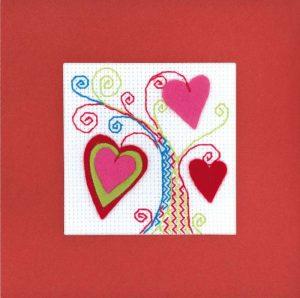 Набор для вышивания крестом Риолис «Открытка Валентинов день»