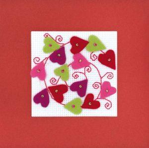 Набор для вышивания крестом Риолис «Открытка Валентинка»