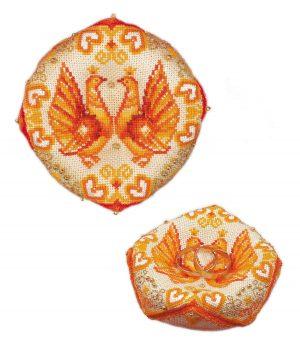 Набор для вышивания крестом Риолис «Свадебная подушечка для колец»