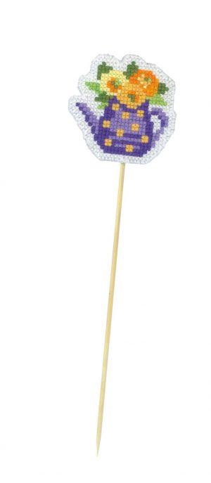 Набор для вышивания крестом Риолис «Украшение для цветов Кувшинчик»