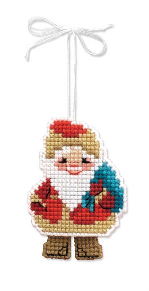 Набор для вышивания крестом Риолис «Новогодняя игрушка Дедушка Мороз»