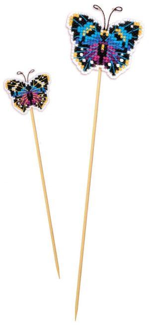 Набор для вышивания крестом Риолис «Украшение для цветов Бабочка»