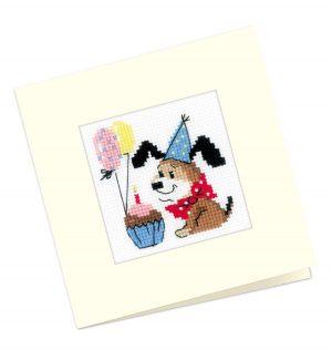 Набор для вышивания крестом Риолис «Открытка С днем рождения!»