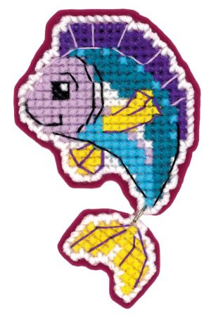 Набор для вышивания крестом Риолис «Магнит Рыбка»