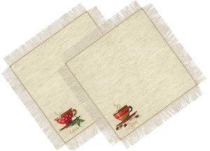 Набор для вышивания крестом Риолис «Салфетки Чай и кофе»
