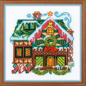Набор для вышивания крестом «Домик с колокольчиком»