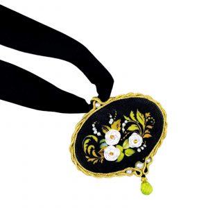 Набор для вышивания крестом Риолис «Кулон Белая роза»