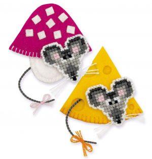 Набор для вышивания для начинающих Риолис Магниты «Мышки»
