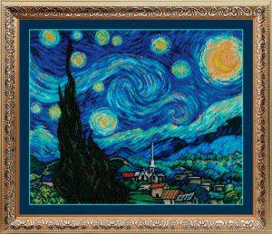 Набор для вышивания бисером Золотые ручки «Звёздная ночь»