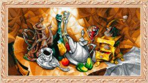 Набор для вышивания бисером Золотые ручки «Кофейный авангард»
