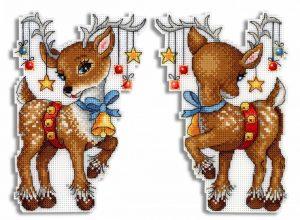 Набор для вышивания на пластиковой канве ЖАР-ПТИЦА «Рождественский помощник»