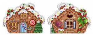 Набор для вышивания на пластиковой канве ЖАР-ПТИЦА «Пряничный домик»