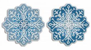 Набор для вышивания на пластиковой канве ЖАР-ПТИЦА «Снежинка»