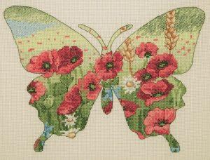 Набор для вышивания крестом ANCHOR MAIA «Силуэт бабочки»
